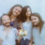 Judah Warsky + Flavien Berger + Maud Geffray + Arthur de Pan European Recording avec leur magazine Longueur d'Ondes @Rock en Seine 2016 ©Samuel Degasne