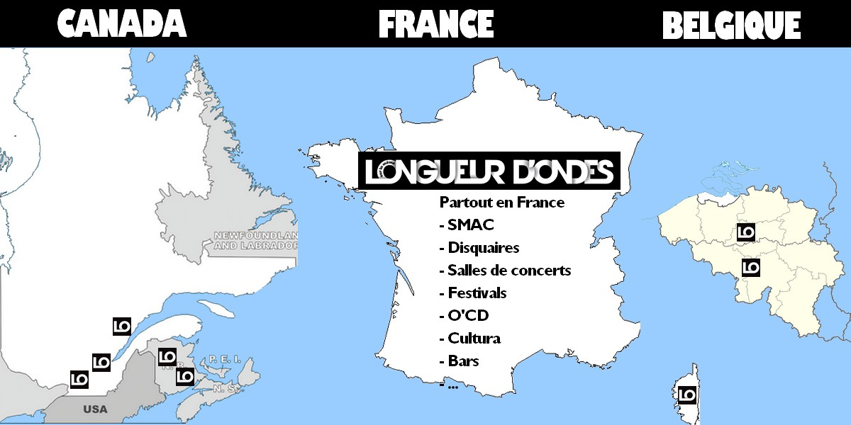 Carte de distrisbution du magazine Longueur d'Ondes
