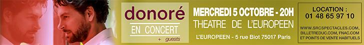 Donoré en concert au Théâtre de l'Europe à Paris le 5/10