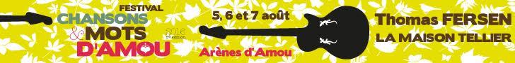 Festival Chansons et mots d'Amou - 5 à 7 août 2016