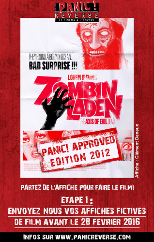 affiche panic - zombin laden
