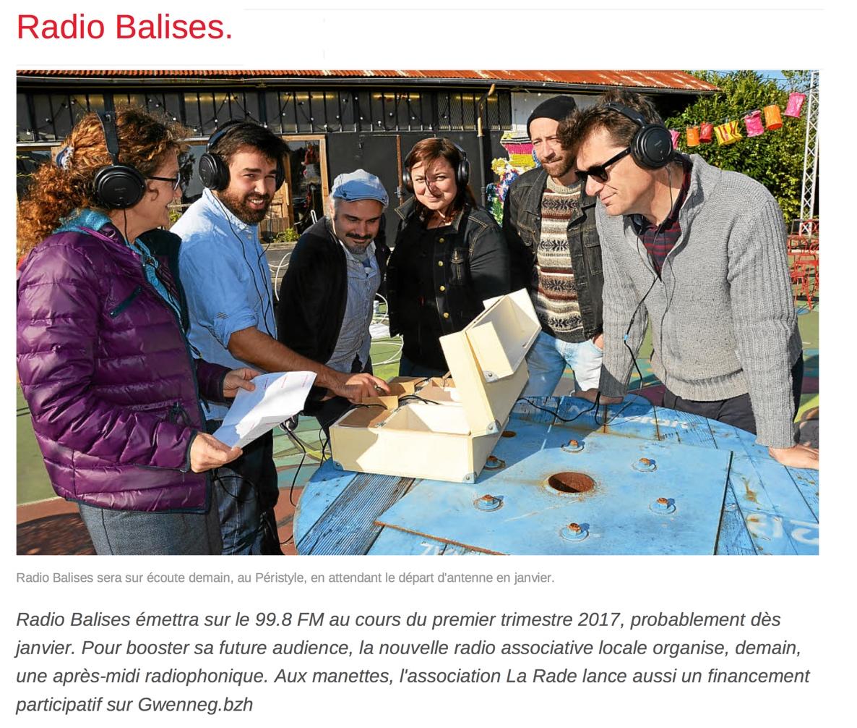 Radio Balises sur Gwenneg - Longueur d'Ondes