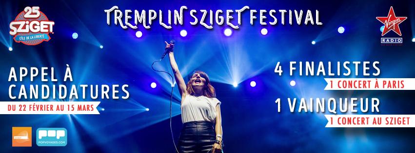 Appel a candidature, Tremplin Sziget Festival sur Longueur d'Ondes