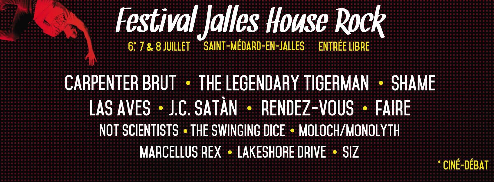 Programmation Festival Jalles House Rock 2017 sur Longueur d'Ondes