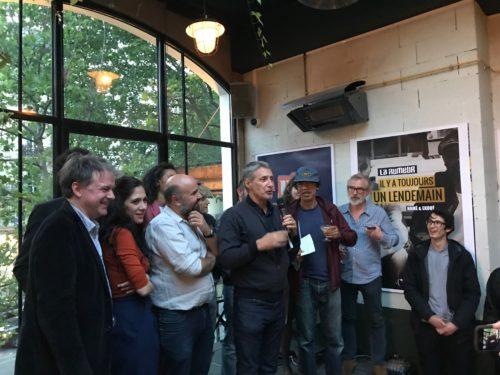Le jury du Prix Barbès avec le lauréat présidé par Antoine de Caunes