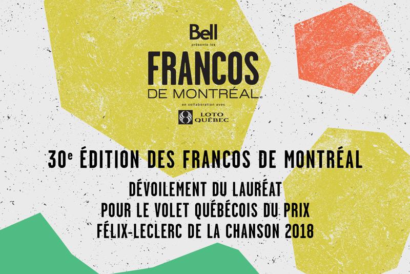 Lauréats Prix Félix-Leclerc 2018