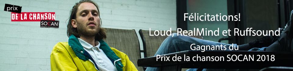 Le rappeur Québécois Loud gagne le prix de la chanson SOCAN