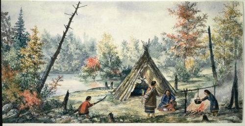 Campement algonquin - Gravure © DR