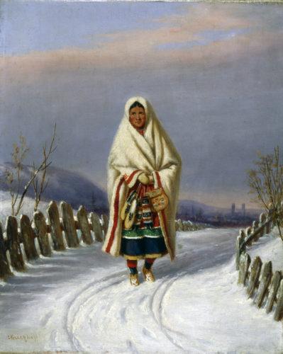 Krieghoff-Femmes indiennes avec mocassins